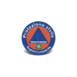 Fregio Protezione Civile Volontario Lombardia (Ø 7,5 cm)
